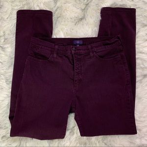 Women's Not Your DaughtersJeans Burgandy 10P